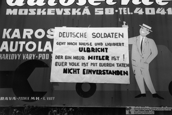Poster Protesting the Invasion of the Czechoslovak Socialist Republic by Warsaw Pact Troops (August 21, 1968)