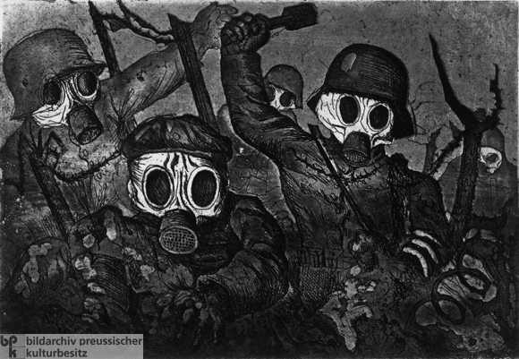 Otto Dix, <i>Storm Troops Advance under Gas Attack</i> (1924)