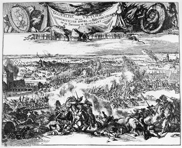 The Battle of Fehrbellin on June 28, 1675 (c. 1675)