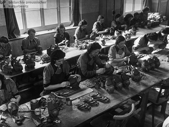 Women Employed in the Production of Gas Masks (1940)