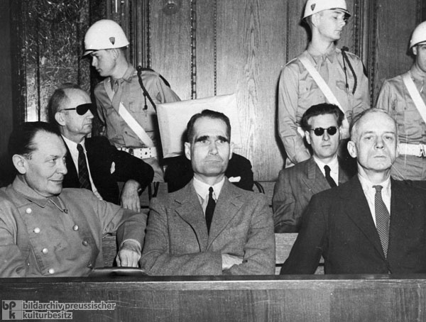 Some of the Accused in the Nuremberg Trial of the Major War Criminals (1946)