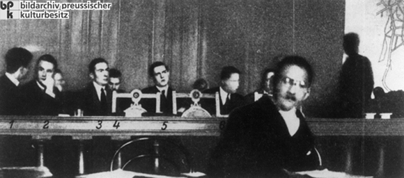 The Accused in the Rathenau Trial (October 13, 1922)