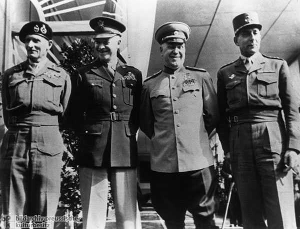 """Regarding the Defeat of Germany"" – The Allied Commanders-in-Chief in Berlin (June 5, 1945)"