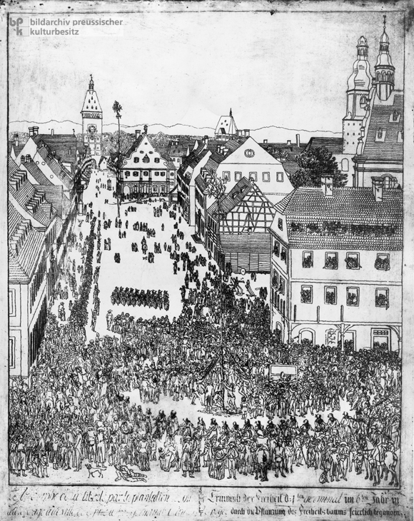 Erecting a Liberty Pole in Speyer (1798)