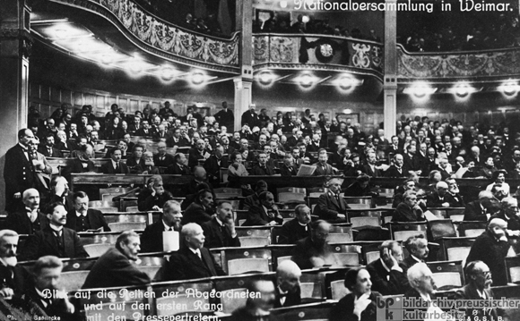 The First Session of the National Assembly in Weimar (February 6, 1919)