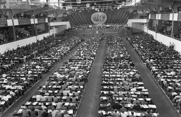 SED's Third Party Congress at Werner Seelenbinder Hall in East Berlin (July 20-24, 1950)