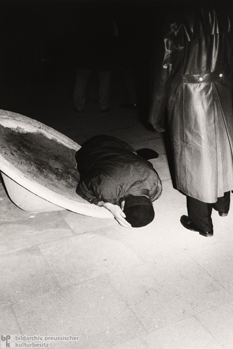 Victim of the Police Action in Front of the German Opera in West Berlin's Charlottenburg Neighborhood (June 2, 1967)