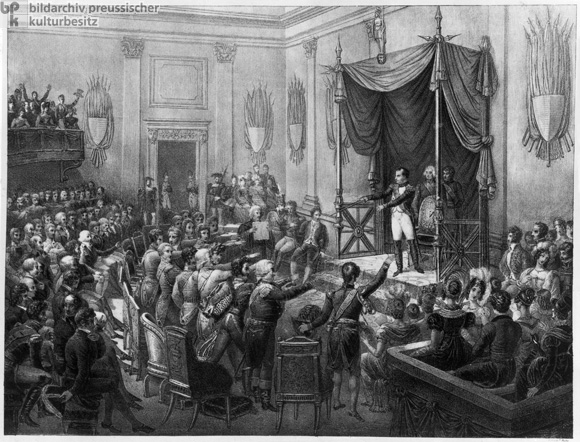 The Founding of the Confederation of the Rhine [<I>Rheinbund</i>]  on July 12, 1806 (1806)