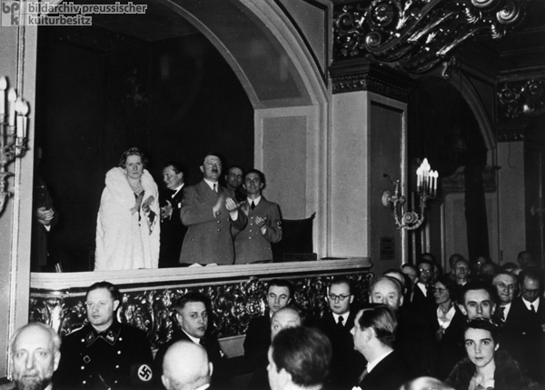 Hitler Applauding at a Performance Conducted by Wilhelm Furtwängler at the Berlin Philharmonic (1939)