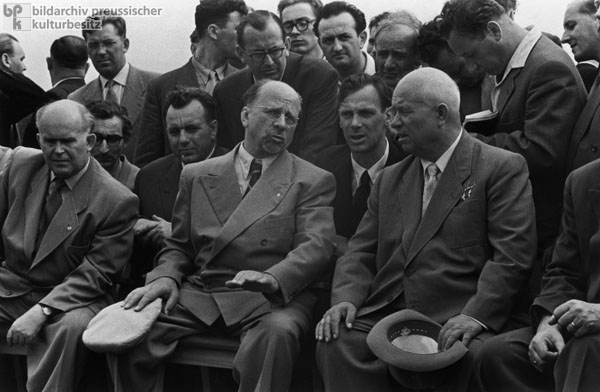Nikita Khrushchev on a State Visit to the GDR (August 1957)
