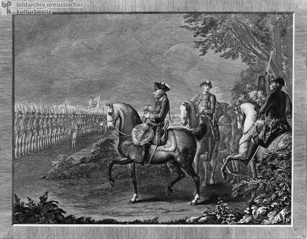 "The Guards Parade before Frederick II (""the Great"") (1777)"
