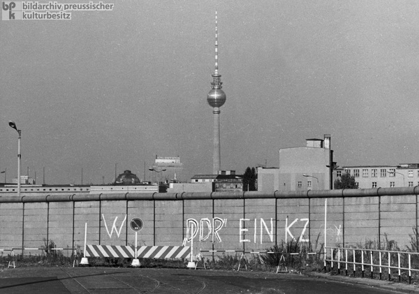 Section of the Berlin Wall, Potsdamer Platz, Berlin (1973)