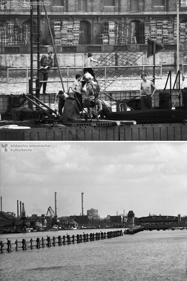 The Border along Berlin's Spree River (no date)
