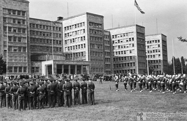 The Headquarters of the American Forces in Germany in the Former I.G. Farben Building in Frankfurt am Main (1949)