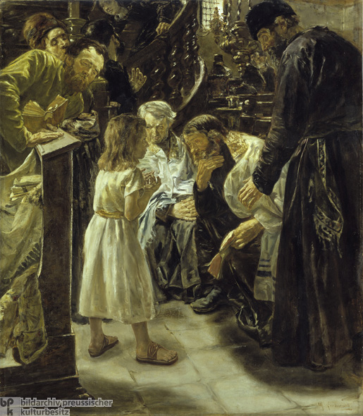 Max Liebermann, <i>The Twelve-Year-Old Jesus in the Temple</i> [<i>Der zwölfjährige Jesus im Tempel</i>] (1879)
