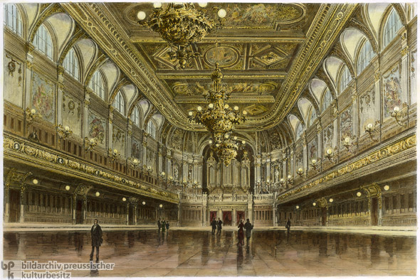 Leipzig Concert Hall, Interior (1884)