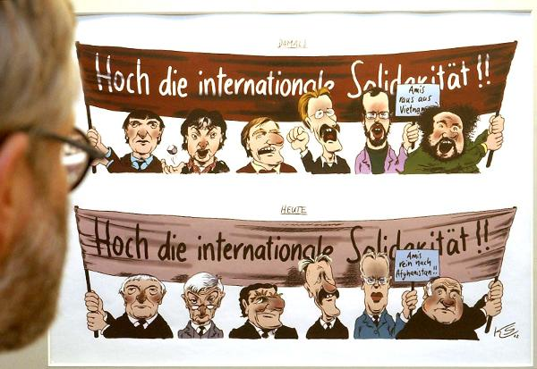 Caricature of the Politicians of the '68 Generation (February 10, 2003)
