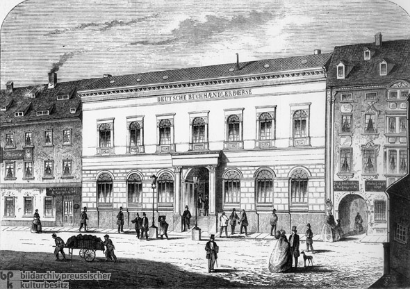 The German Booksellers' Bourse in Leipzig (1861)