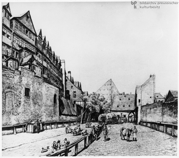 The Jews' Alley [<I>Judengasse</i>] and Stockyard in Frankfurt am Main (17th Century)