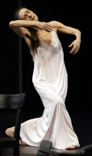 "Choreographer Pina Bausch during a Dress Rehearsal of ""Café Müller"" (May 15, 2003)"