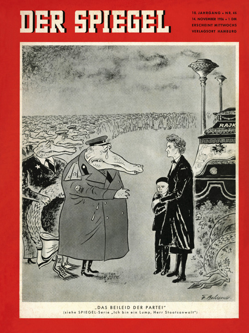 &quot;The Party's Condolences&quot;: <i>Spiegel</i> Cover (November 14, 1956)