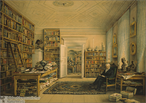 Alexander von Humboldt in his Library (1856)