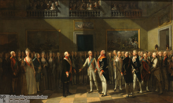 Emperor Leopold II and King Frederick William II Meet in Pillnitz on August 25, 1791 (Undated Oil on Canvas)