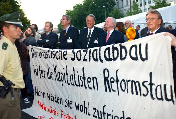 Protest on the Sidelines of the BDI Congress (September 22, 2003)