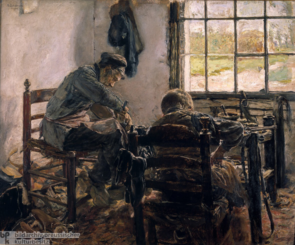 Max Liebermann, <I>A Cobbler's Workshop</i> [<I>Schusterwerkstatt</I>] (1881-82)