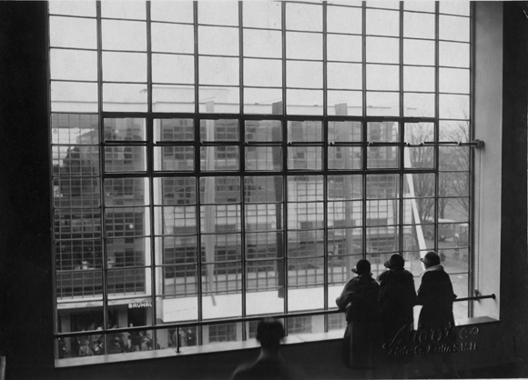 Dessau Bauhaus: View from the Stairwell during the Building's Official Opening (December 4-5, 1926)