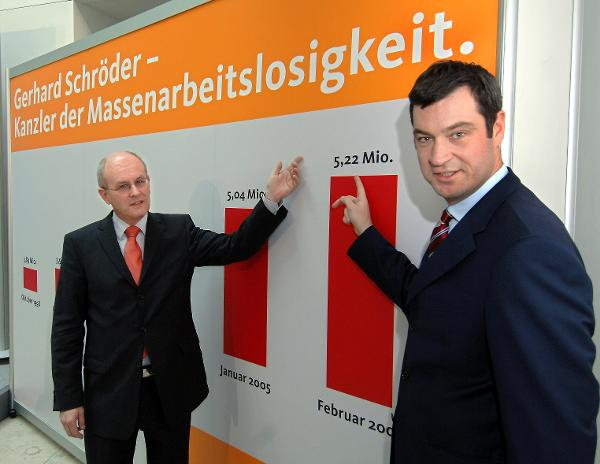 The CDU Holds Chancellor Schröder Responsible for Mass Unemployment (March 1, 2005)