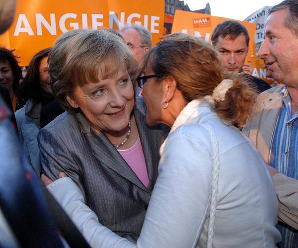Angela Merkel at an Election Rally in Erfurt (August 26, 2005)