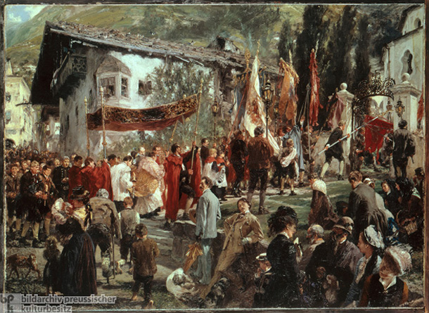 Adolph Menzel, <i>Procession in Hofgastein</i> [<i>Prozession in Hofgastein</i>] (1880)