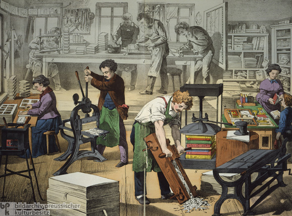 Bookbinder's Workshop (c. 1850)