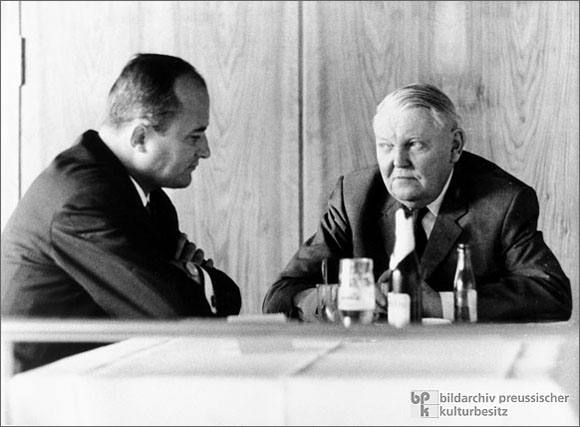 Chancellor Ludwig Erhard and Rainer Barzel (1964)