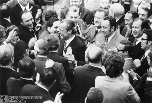 Willy Brandt after the No-Confidence Vote in the Bundestag<BR>(April 27, 1972)