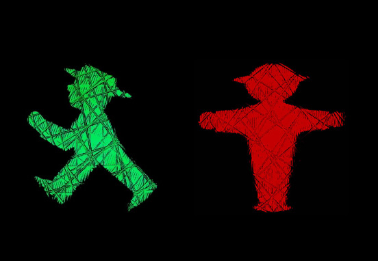 East German Ampelmännchen