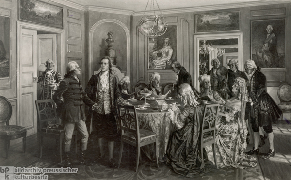 Tea Party Hosted by Duchess Anna Amalia in Wittums Palace in Weimar (1783)