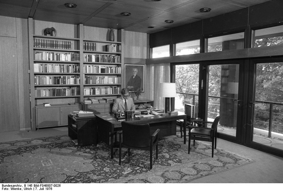 Helmut Schmidt in his Office in the New Federal Chancellery (July 7, 1976)
