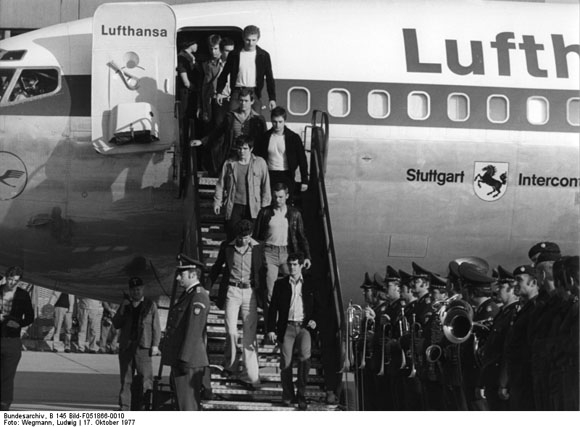 The Arrival of the Counter-Terrorism Unit of the German Federal Police (GSG 9) at the Cologne/Bonn Airport (October 18, 1977)