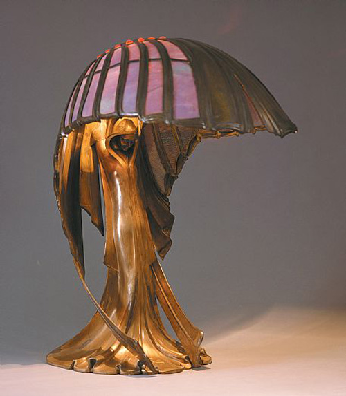 Peter Behrens, <I>Jugendstil</i> Table Lamp (1902)