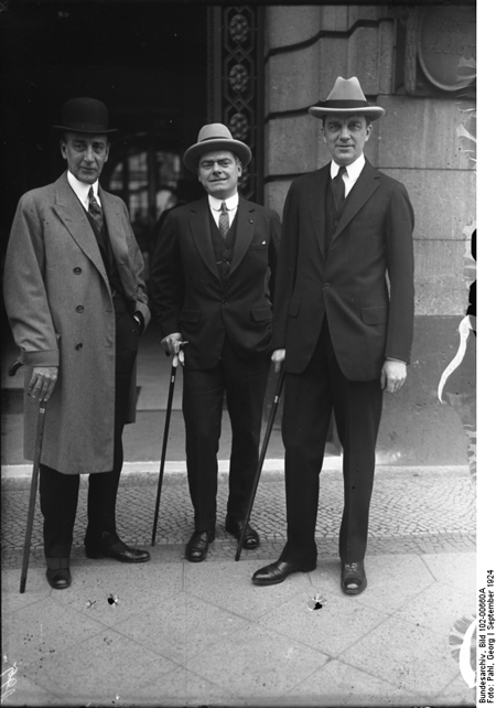 Charles G. Dawes und Owen D. Young in Berlin (1924)