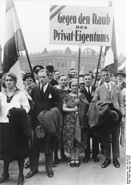 The German National People's Party (DNVP) Demonstrates against the Proposed Expropriation of Princely Estates (June 1926)