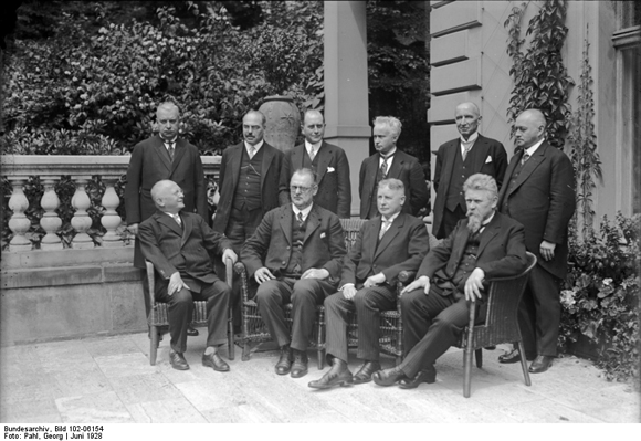 The Second Müller Cabinet after its First Meeting in the Reich Chancellery (June 1928)