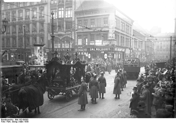 Horst Wessel's Funeral Procession on Jüdenstrasse in Berlin (March 1930)