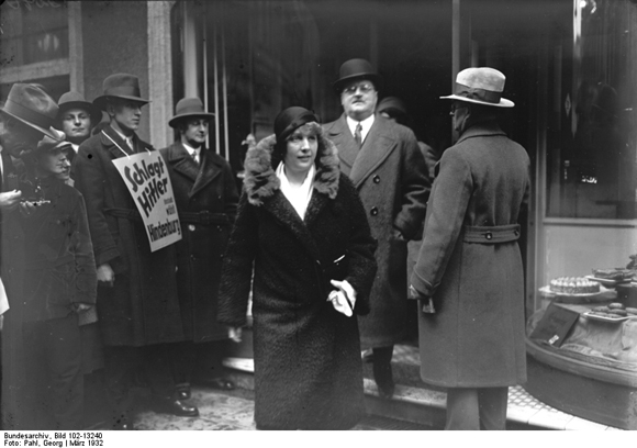 Otto Meissner Exits the Polls (March 1932)