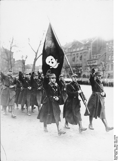 Members of the SA during a March in Braunschweig (c. 1923)