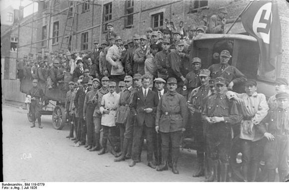 Josef Terboven (in Civilian Dress) with Members of the Essen SA (July 1926)