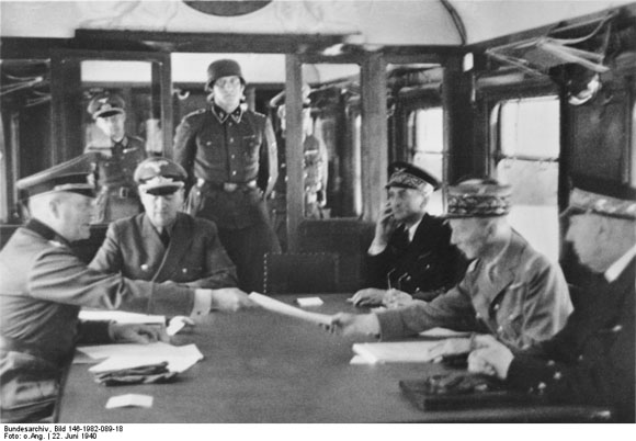 Signing of the Franco-German Armistice at Compiègne (June 22, 1940)