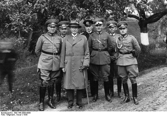 Wilhelm Groener and his Officers During Military Maneuvers in Thuringia and Bavaria (1930)